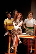 Valentina Fleer as Adina, with Janai Orman, Colleen Brooks, & Renée Rapier; photo by Kristen Loken